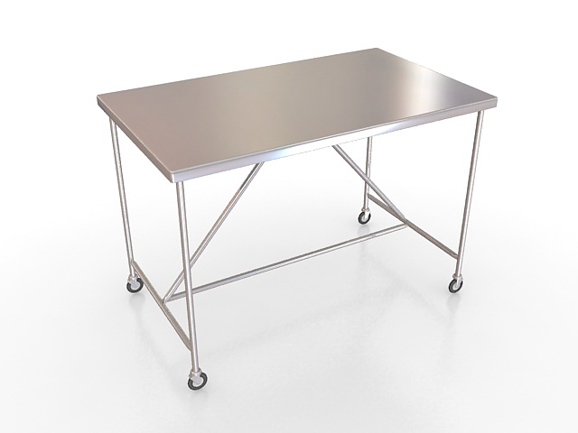 Surgical stainless steel table 3d rendering