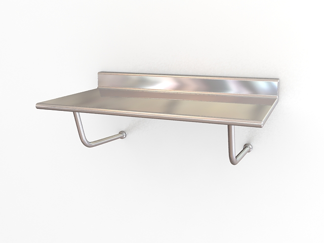 Medical stainless steel instrument table 3d rendering