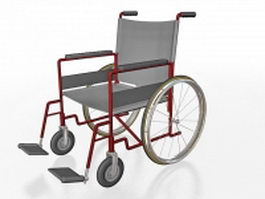 Lightweight wheelchair 3d preview