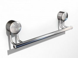 Bathroom towel bar 3d preview
