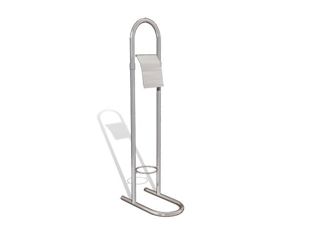 Toilet paper holder stand 3d rendering