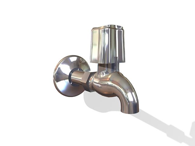 Bathroom faucet 3d rendering