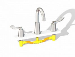 Two handle faucet 3d preview