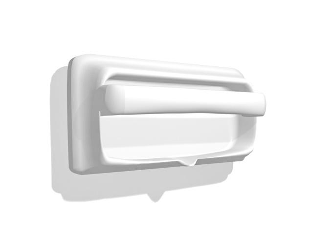 Recessed paper holder 3d rendering