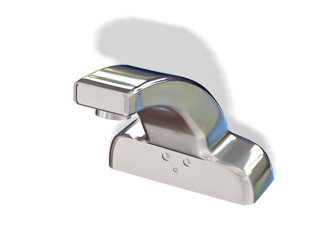 Bathroom sink faucet 3d rendering