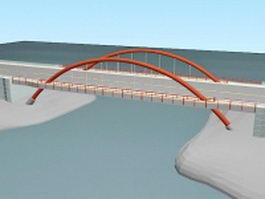 Tied arch bridge 3d preview