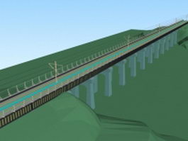 Railway bridge 3d preview