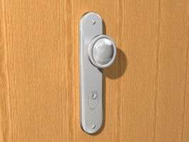 Doorknob with lock 3d preview