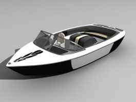 Modern motorboat 3d preview