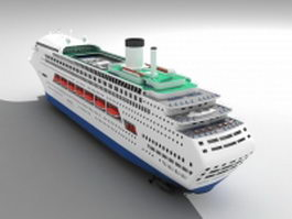Cruise liner passenger ship 3d preview
