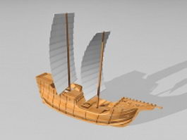Small sailing ship 3d model preview