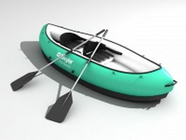 Inflatable rubber dinghy 3d preview