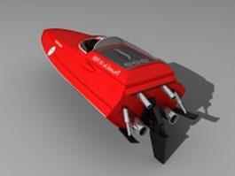 Ferrari speed boat 3d preview