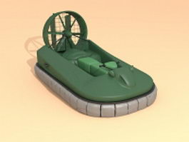 Hovercraft ship 3d preview