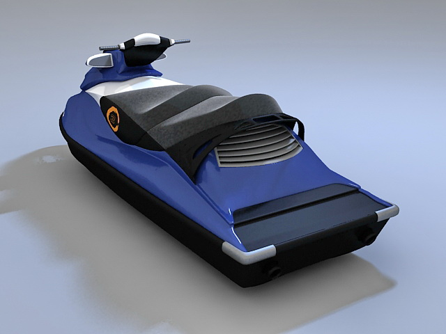 Water scooter 3d rendering