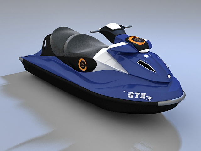 Water scooter 3d rendering
