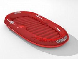 Water air mattress 3d preview