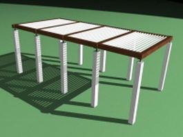 Outdoor structures pergolas 3d preview