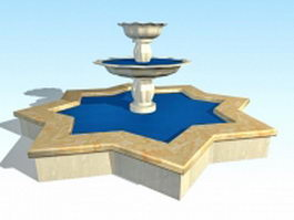 Star-shaped fountain 3d preview