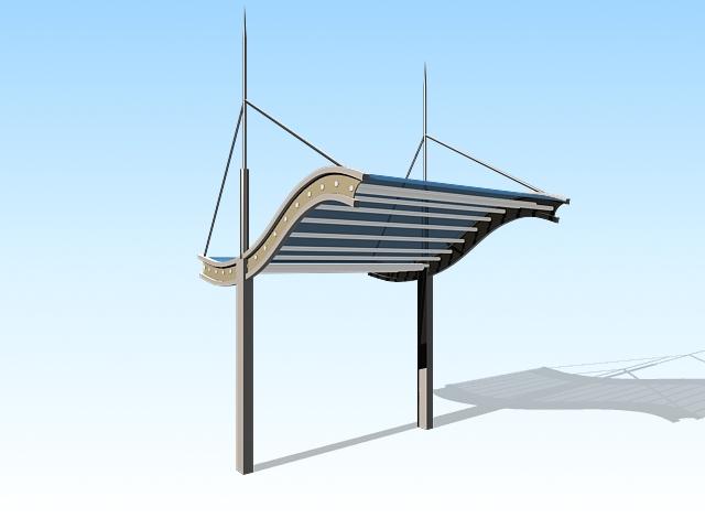 Urban canopy 3d rendering