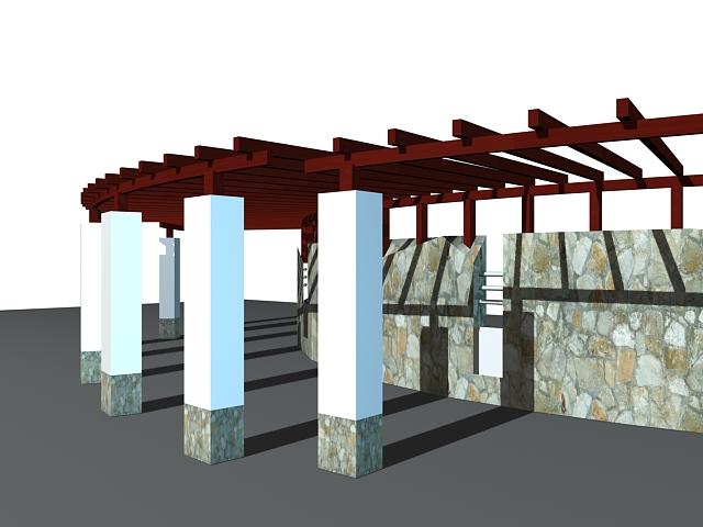 Walkway pergola ideas 3d rendering