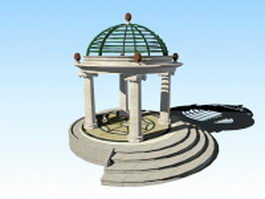 Italian gazebo architecture 3d preview