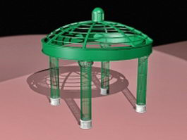 Round metal gazebo 3d preview