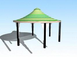 Garden gazebo canopy 3d model preview