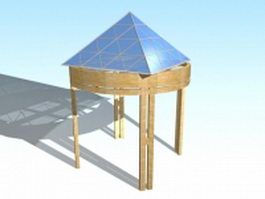 Contemporary gazebo 3d preview