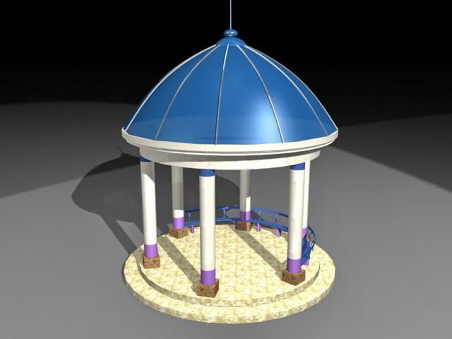 Park gazebo 3d rendering