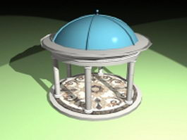 Roman gazebo design 3d preview