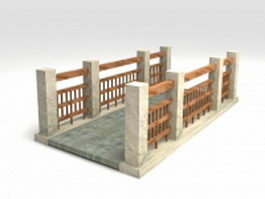 Small concrete garden bridge 3d preview