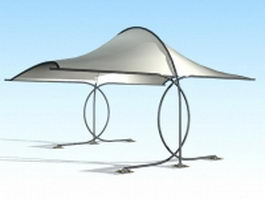 Outdoor shade canopy 3d preview