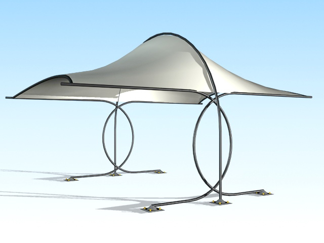 Outdoor shade canopy 3d rendering