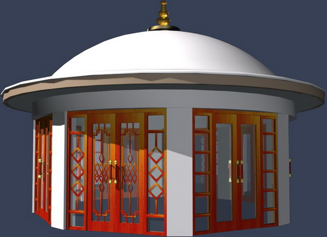 Yurt cabins shed 3d rendering