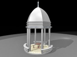 Ornamental gazebo 3d preview