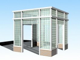 Screened gazebo 3d preview