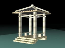 Decorative gazebo 3d preview