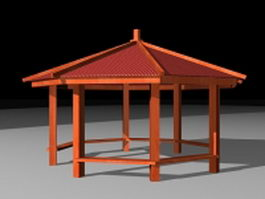 Country style gazebo 3d preview