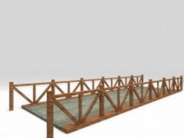 Concrete pond bridge 3d preview