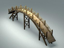 Japanese garden bridge 3d preview