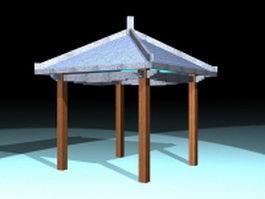 Gazebo for patios 3d preview