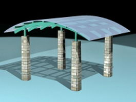 Shade gazebo canopy 3d preview