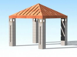 Simple gazebo 3d preview