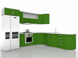 Corner kitchen design ideas 3d preview