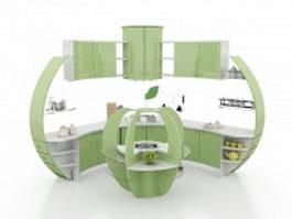 Modern corner kitchen cabinet ideas 3d preview