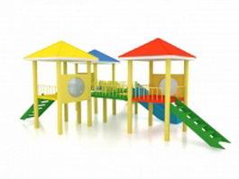 Kindergarten playground equipment 3d preview