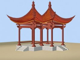 Chinese pavilions 3d preview