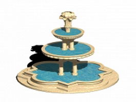 Landscape water fountain 3d preview