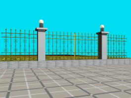 Garden fence design 3d preview